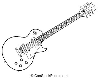 Gibson les paul Clip Art Vector and Illustration. 164