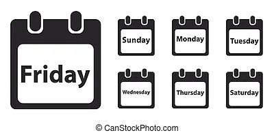 Week day Stock Illustrations. 30,726 Week day clip art