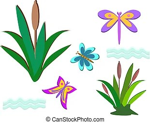 cattail illustrations and stock