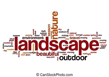 landscape word and stock