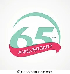 65 years vector clip art royalty