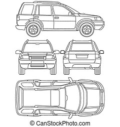 Clipart Vector of Vehicle condition report (car checklist