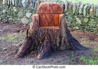 Chair seat woods tree stump Stock Photos and Images. 75 ...