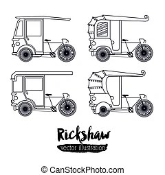 Rickshaw Illustrations and Clipart. 694 Rickshaw royalty
