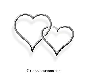 Two Hearts Entwined Clip Art  Cliparts