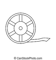 Reel icon Clip Art Vector and Illustration 6952 Reel