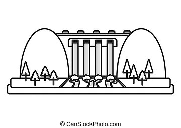 Hydroelectric Clip Art and Stock Illustrations. 1,143