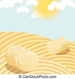 hay bale clipart vector graphics