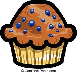Blueberry muffin Clip Art Vector Graphics 230 Blueberry