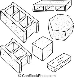 Foundation block Vector Clipart EPS Images. 111 Foundation