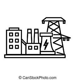 Hydroelectric power plant Vector Clip Art Illustrations
