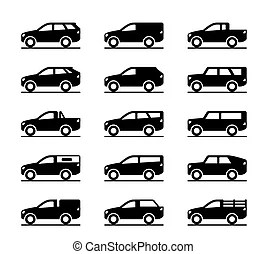 Land rover discovery Vector Clip Art Illustrations. 16