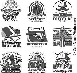 Private investigator Stock Illustrations. 895 Private