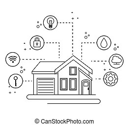 Home automation Clipart and Stock Illustrations. 1,981