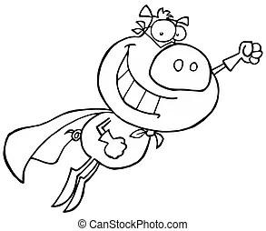 Super pigs Vector Clipart Illustrations. 31 Super pigs