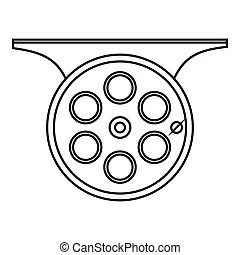 Reel icon Clip Art Vector and Illustration 8145 Reel