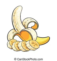 ripe banana vector clip art eps