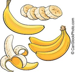 clip art vector of bunch ripe
