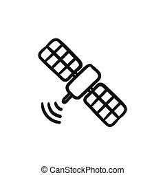 Vector Clipart of Telecommunications objects sketch
