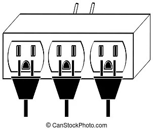Drawings of Unplug Cord Electrical Outlet Electricity
