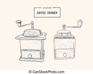 Stock de Ilustration de café, como, granos, vendimia, tren