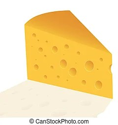 cheese slice vector clipart illustrations