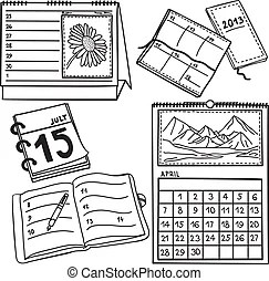 Personal diary Clipart Vector and Illustration. 3,203