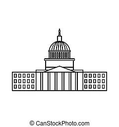 Capitol hill Vector Clipart Royalty Free. 237 Capitol hill