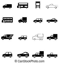Automotive icon set. Collection of automotive icons