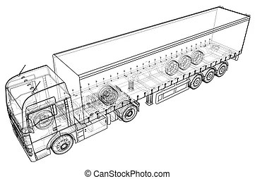 Abstract truck frame. illustration
