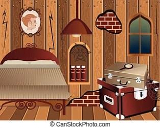 attic clipart cartoon vector illustration clip interior illustrations vectors eps cottage