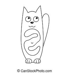 Cute cats yin yang. A cute cartoon cats yin yang symbol