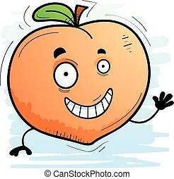 Cartoon peach. | CanStock