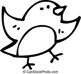 Cartoon robin symbol.
