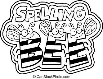 Spelling bee Vector Clipart Royalty Free. 117 Spelling bee