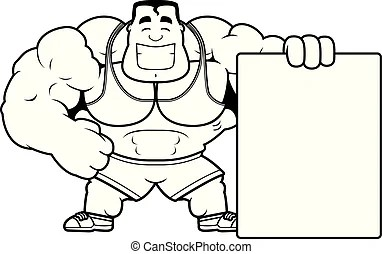 Cartoon personal trainer Vector Clipart EPS Images. 392