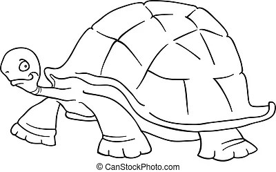 Turtle for coloring book. Illustration of cartoon turtle