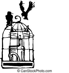 Birdcage Illustrations and Clip Art. 1,855 Birdcage