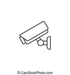 Cctv symbol, pictogram security camera. Warning sticker