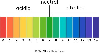 ph scale litmus paper color chart ph scale diagram with