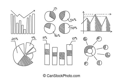 Infographic chart. statistics bar graphs, economic