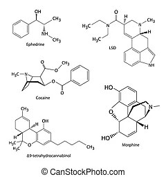 Chemical formulas of drugs. The chemical structural