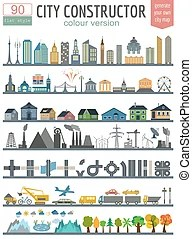 map elements generator modern vector illustration creating outline perfect version generating