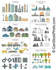 map elements generator modern vector illustration creating perfect outline version