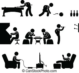 Indoor sport game athletic icon. A set of pictogram... eps