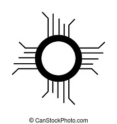 Circuit components vector illustration. list with isolated