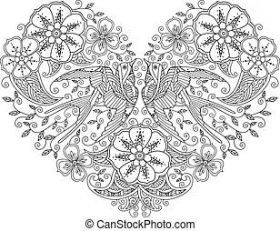 Bird pair Clipart Vector and Illustration. 2,345 Bird pair