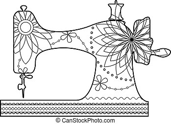 Sewing machine Clip Art and Stock Illustrations. 4,556