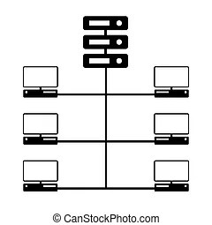 Vector of network switch or router icon set.