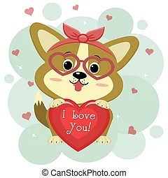 Download Cute smiling welsh corgi dog vector cartoon illustration ...